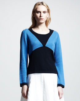 Rag & Bone Carla Textured Colorblock Sweater