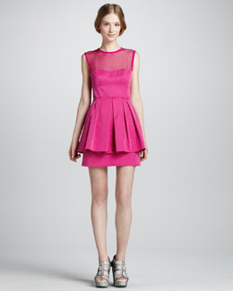 Nanette Lepore Lightshow Illusion Peplum Dress