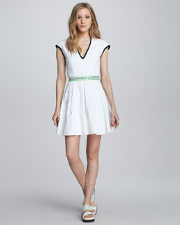 Nanette Lepore Moonwalk Textured Contrast Dress