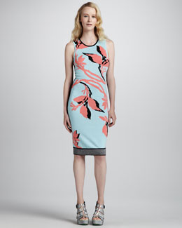 Nanette Lepore Euphoria Printed-Knit Dress
