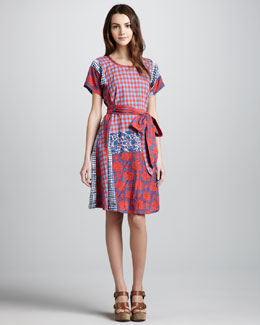 MARC by Marc Jacobs Molly Mix-Print Cotton Dress