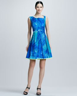 Elie Tahari Nora Fit-and-Flare Dress