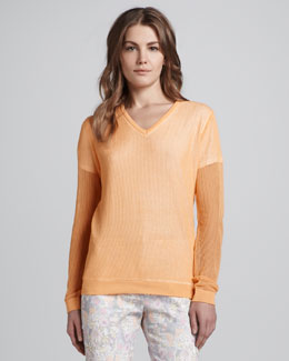 Tibi Layer-Illusion V-Neck Sweater