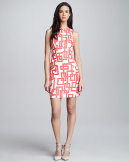 Milly Bri Geometric-Print Dress