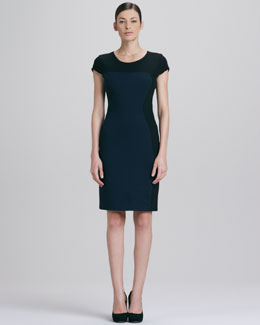 Elie Tahari Dixie Colorblock Dress