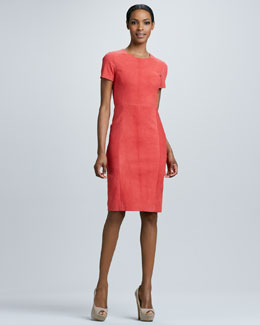Elie Tahari Emily Suede Dress