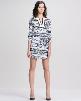 Diane von Furstenberg Barb Splash Print Dress