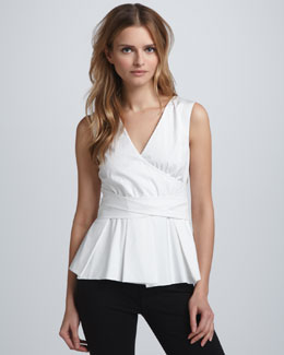 Diane von Furstenberg Calida Wrapped-Waist Top