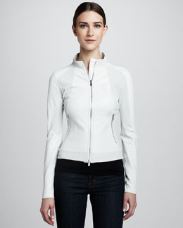 Elie Tahari Georgia Leather Jacket