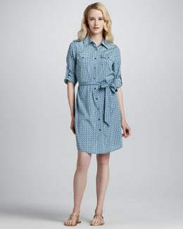 Tory Burch Brigitte Printed Shirt Dress
