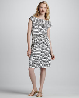 Tory Burch Justina Scallop-Print Dress