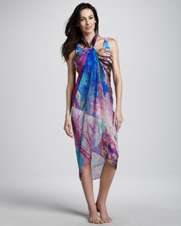 Gottex Tropical Paint Pareo Coverup