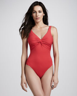 Gottex Twist-Neck One-Piece Swimsuit