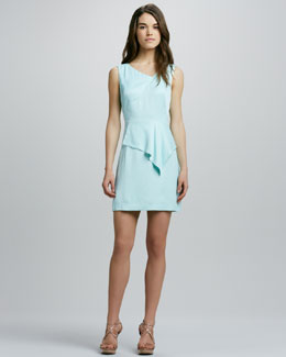 Milly Charlotte Drape-Peplum Dress