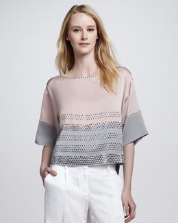 Milly Gia Boat Neck Top