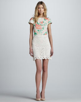 Alice + Olivia Lucia Lace Skirt