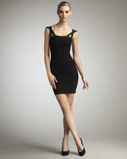 Herve Leger Crisscross-Strap Bandage Dress