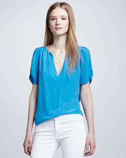 Joie Amone Puff-Sleeve Top