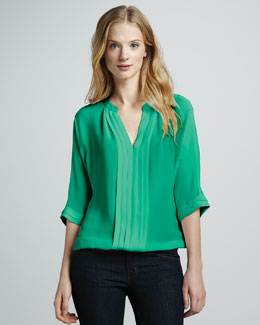 Joie Marru Silk Tie-Back Top