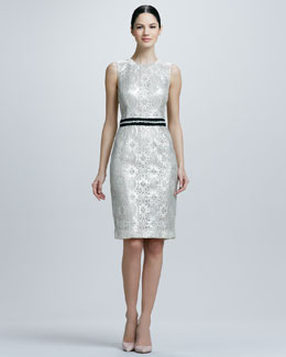 Kalinka Sleeveless Cocktail Dress with Beaded Band