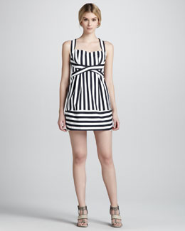 Nanette Lepore Waterfront Striped Sleeveless Dress