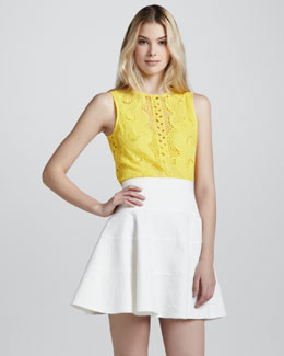 Nanette Lepore Ferry Fit & Flare Skirt