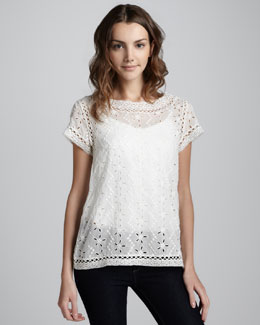 Joie Eyelet Lace Top
