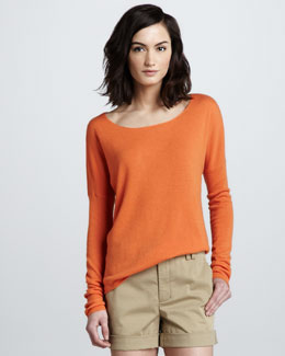 Vince Drop-Shoulder Cashmere Sweater