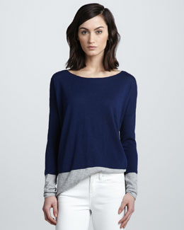 Vince Colorblock Slub Sweater