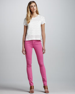 MARC by Marc Jacobs Gaia Super Skinny Jeans, Magental Petal