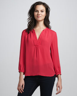 Joie Ameline Pintucked Blouse