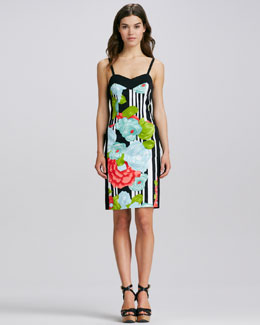 Nanette Lepore Fitted Floral-Print Dress