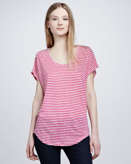 Joie Maddie Striped Slub Top
