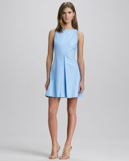 Alice + Olivia Lyla Leather A-Line Dress