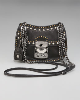 Miu Miu Studded Crossbody Bag, Small