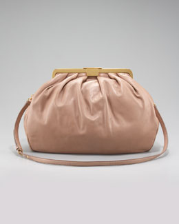 Miu Miu Matelasse Frame-Top Bag, Small