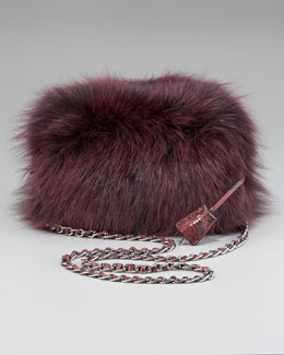 Prada Fox Fur Clutch