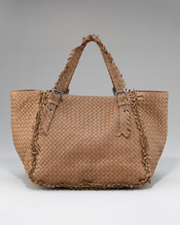 Bottega Veneta Fringe-Detailed Woven Tote