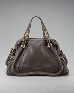 Chloe Paraty Calfskin Satchel, Medium