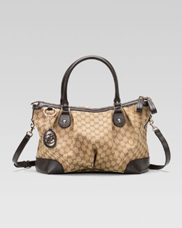 Gucci Sukey Large Top Handle Bag, Cocoa or Black