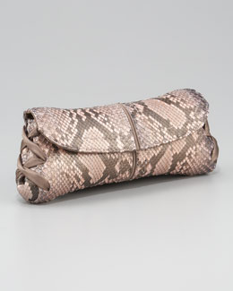 VBH Ballerina Pickstitched Clutch Bag, Python