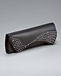 Christian Louboutin Pigalle Crystallized Clutch Bag