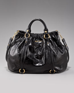 Miu Miu Large Leather Ring Tote