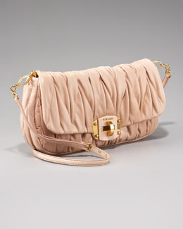 Miu Miu Mattelasse Turn-Lock Clutch