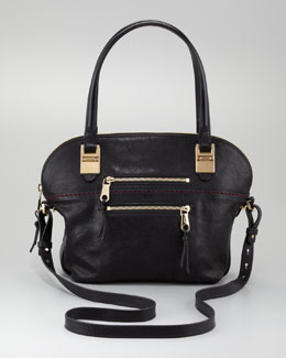 Chloe Angie Large Shoulder Bag, Black