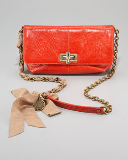 Lanvin Happicolo Karung Shoulder Bag