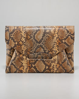 Givenchy Antigona Python Envelope Clutch Bag