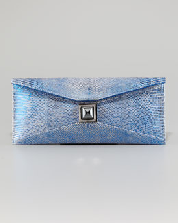 Kara Ross Prunella Lizard Clutch Bag