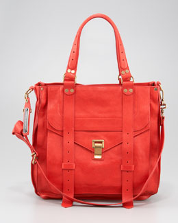 Proenza Schouler PS1 Leather Tote Bag, Bright Red