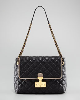 Marc Jacobs The Single Baroque Two-Tone Quilted Bag, Extra-Large